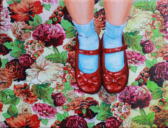 (CreativeWork) Dorothy by Leah Mariani. Oil Paint. Shop online at Bluethumb.