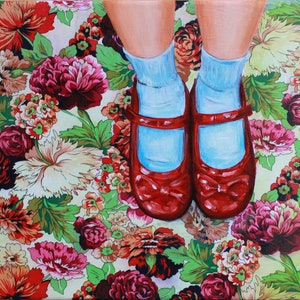 (CreativeWork) Dorothy by Leah Mariani. oil-painting. Shop online at Bluethumb.