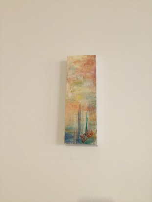 (CreativeWork)  The last rays of the city by Xitan Lu. Acrylic Paint. Shop online at Bluethumb.