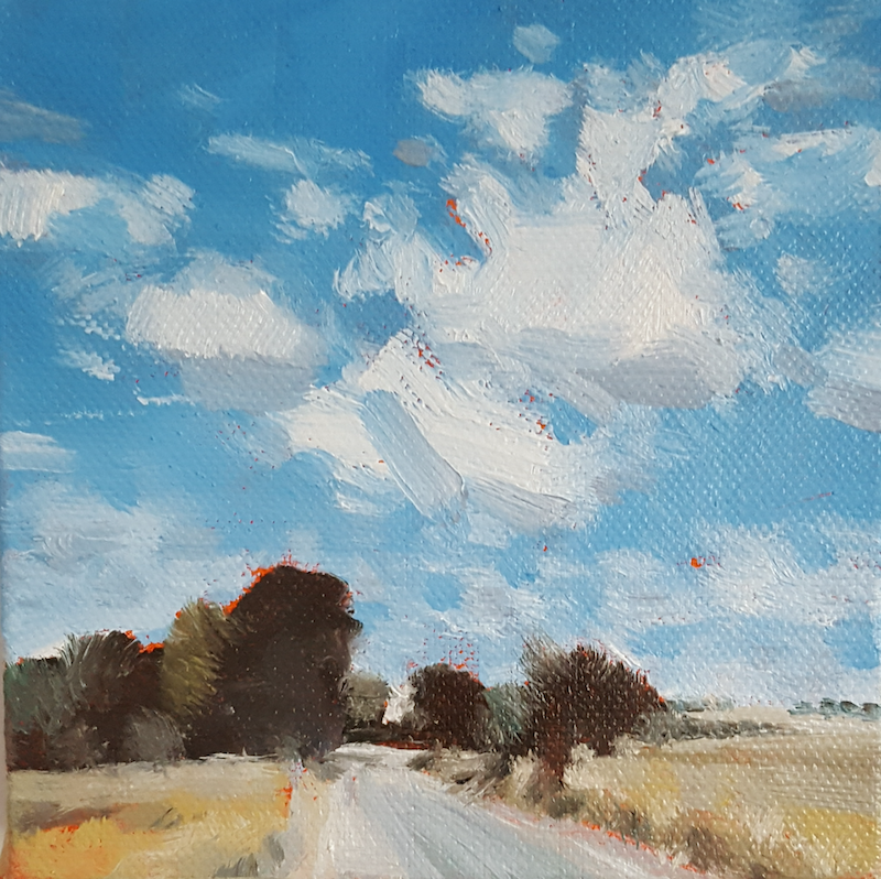 (CreativeWork) Towards York by Richard Burkitt. oil-painting. Shop online at Bluethumb.