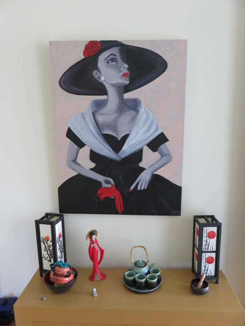 (CreativeWork) Elegance by Robyn Michael. Acrylic Paint. Shop online at Bluethumb.