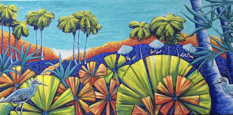 (CreativeWork) Tropicarter by Diane McDonald. arcylic-painting. Shop online at Bluethumb.