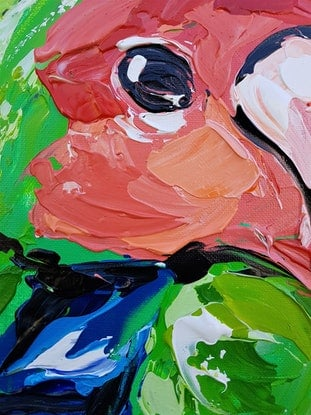 (CreativeWork) Life's Just Peachy by Lisa Fahey. Acrylic Paint. Shop online at Bluethumb.