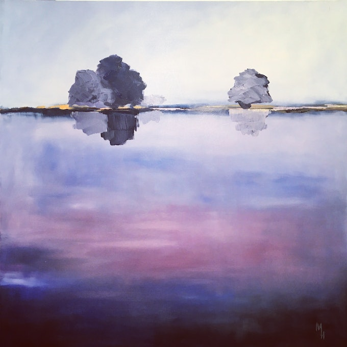 (CreativeWork) Sounds of Silence by Meredith Howse. oil-painting. Shop online at Bluethumb.