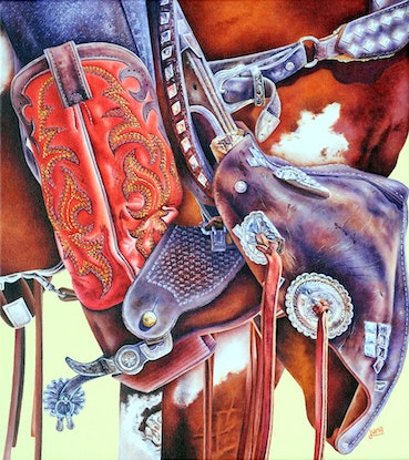 (CreativeWork) Spur Of The Moment by Luna Vermeulen. Oil Paint. Shop online at Bluethumb.