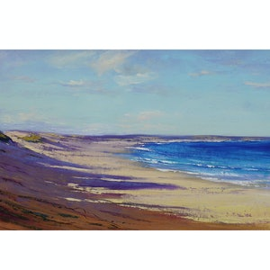 (CreativeWork) Birdie Beach, Central Coast nsw by Graham Gercken. oil-painting. Shop online at Bluethumb.