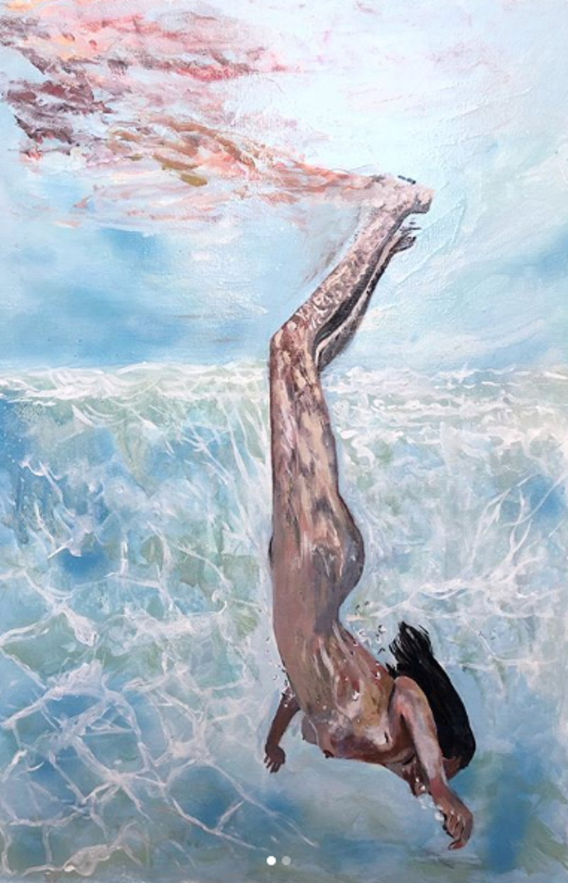 (CreativeWork) Let Go by olivia Robinson. Acrylic Paint. Shop online at Bluethumb.