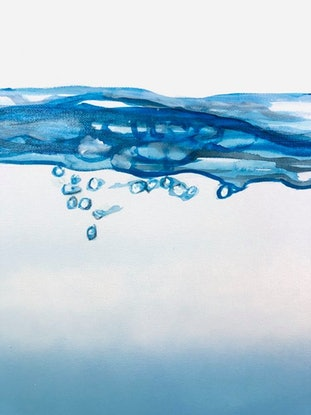 (CreativeWork) Surface Tension by olivia Robinson. Acrylic Paint. Shop online at Bluethumb.