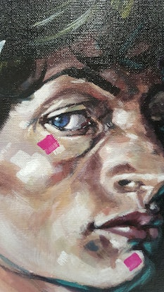 (CreativeWork) Face of Satyr by Kenneth Chu. Acrylic Paint. Shop online at Bluethumb.