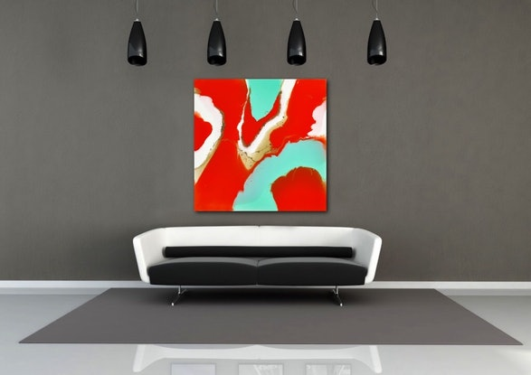 (CreativeWork) Vermillion by Lorna Ballantyne-Epps. Resin. Shop online at Bluethumb.