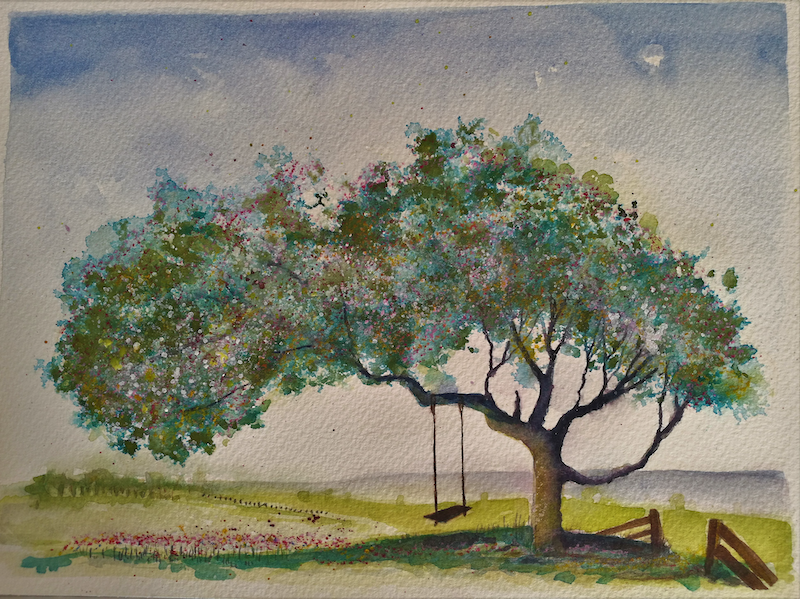(CreativeWork) Trees III by Lucinda Leveille. Watercolour Paint. Shop online at Bluethumb.