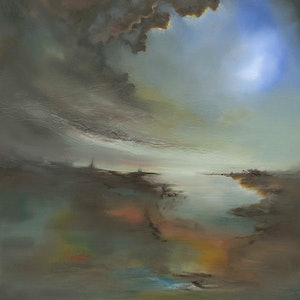 (CreativeWork) Worlds Apart by Victoria Easby. oil-painting. Shop online at Bluethumb.