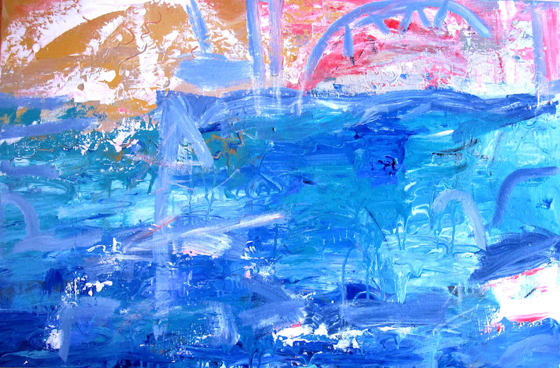 (CreativeWork) Summer Glow by Jan Farrell. Acrylic Paint. Shop online at Bluethumb.