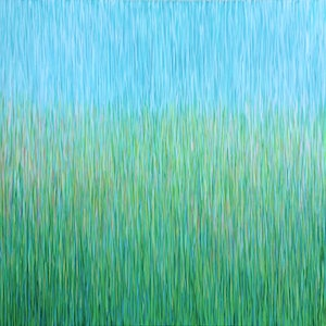 (CreativeWork) Paradise Grass' Acrylic on canvas  ready to hang  by George Hall. arcylic-painting. Shop online at Bluethumb.