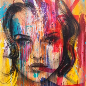 (CreativeWork) Victoria by corban Renouf. arcylic-painting. Shop online at Bluethumb.