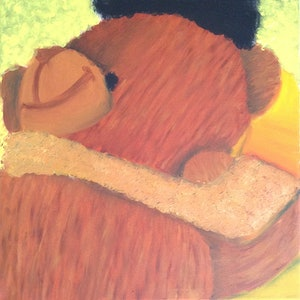 (CreativeWork) Comfort by Jasman Grewal. oil-painting. Shop online at Bluethumb.