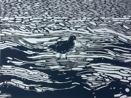 (CreativeWork) Sooty oystercatcher by Nadine Jolley. Other Media. Shop online at Bluethumb.