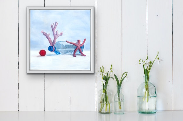 (CreativeWork) Great Barrier Reef 4 (A) by Brooke Walker. Oil Paint. Shop online at Bluethumb.
