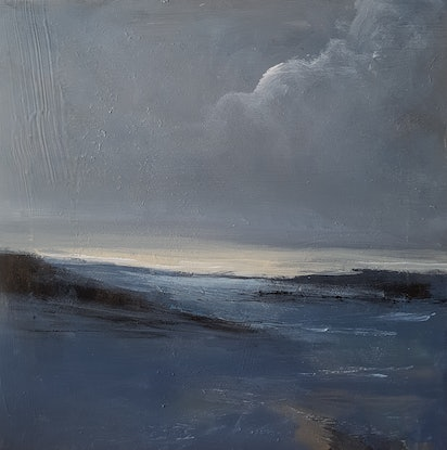 (CreativeWork) Inlet by Andrea Edwards. Acrylic Paint. Shop online at Bluethumb.