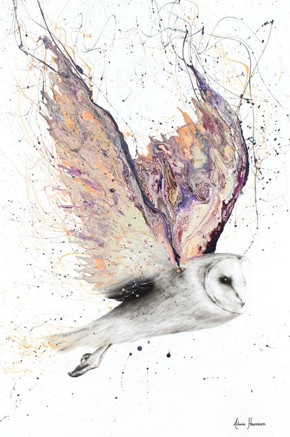 Heart Winged Owl - Limited Edition Print -  Ed. 1 of 100