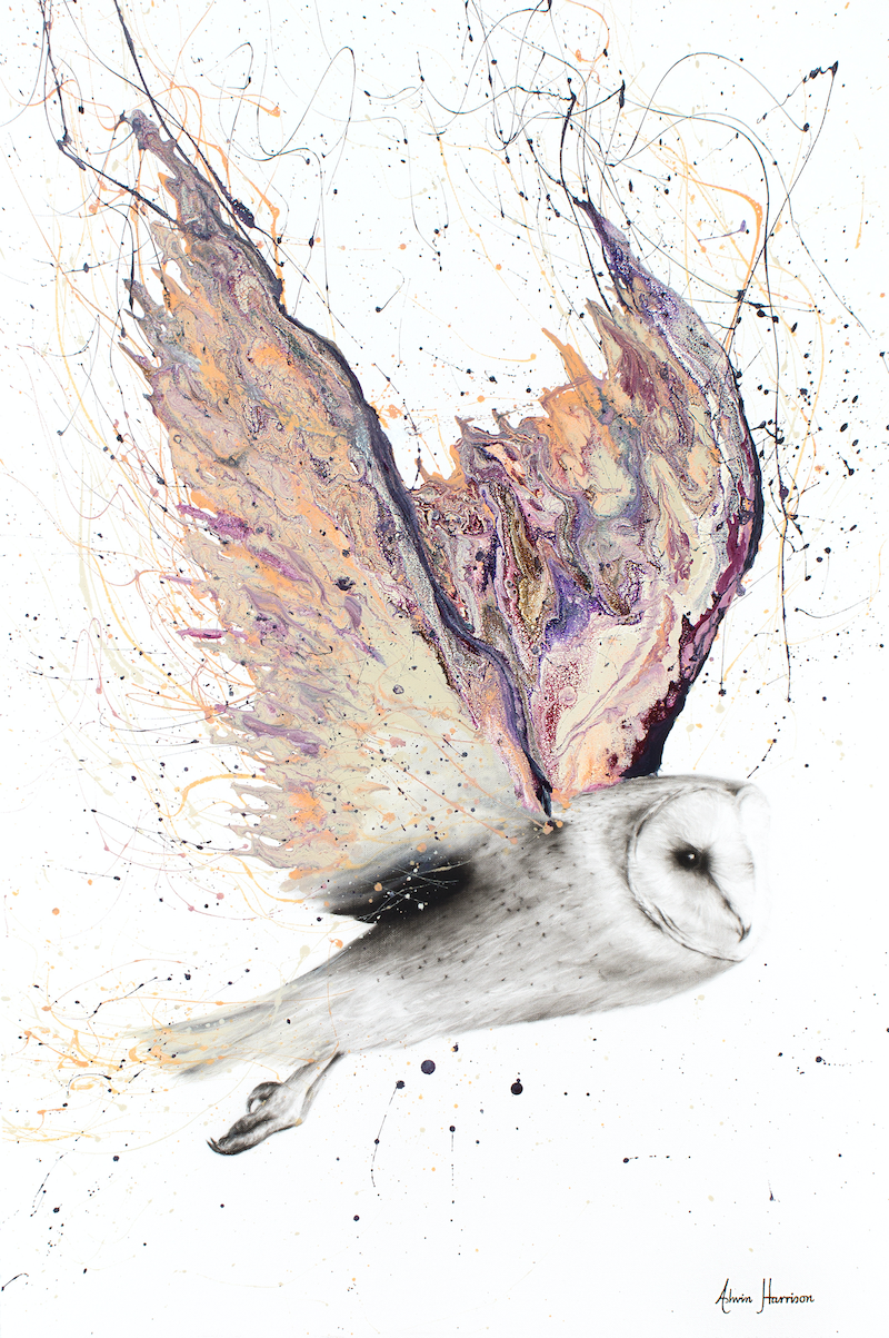(CreativeWork) Heart Winged Owl - Limited Edition Print -  Ed. 1 of 100 by Ashvin Harrison. Print. Shop online at Bluethumb.