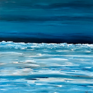 (CreativeWork) Pending Storm by Dianne Alchin. arcylic-painting. Shop online at Bluethumb.