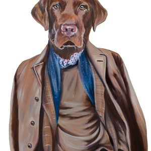 (CreativeWork) Esquire in His Lab Coat Ed. 1 of 150 by Mia Laing. print. Shop online at Bluethumb.