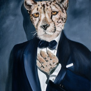 (CreativeWork) Shaken, Not Stirred Ed. 1 of 150 by Mia Laing. print. Shop online at Bluethumb.