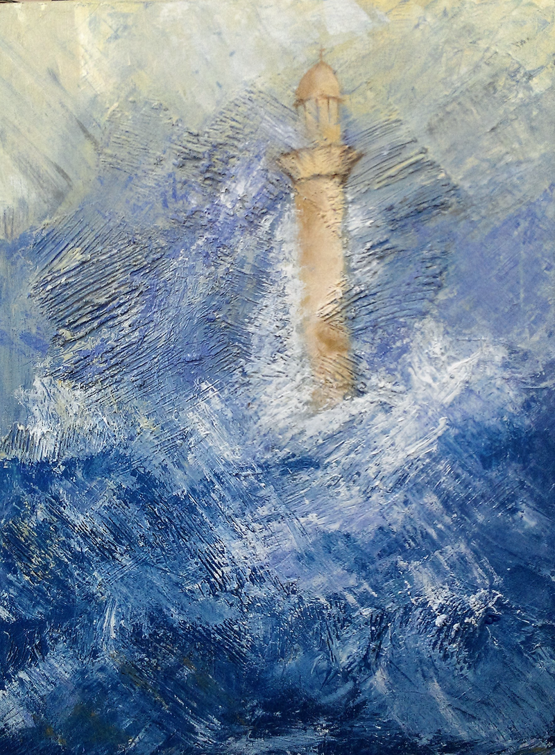 (CreativeWork) The Lighthouse by Jennifer Price. Oil Paint. Shop online at Bluethumb.