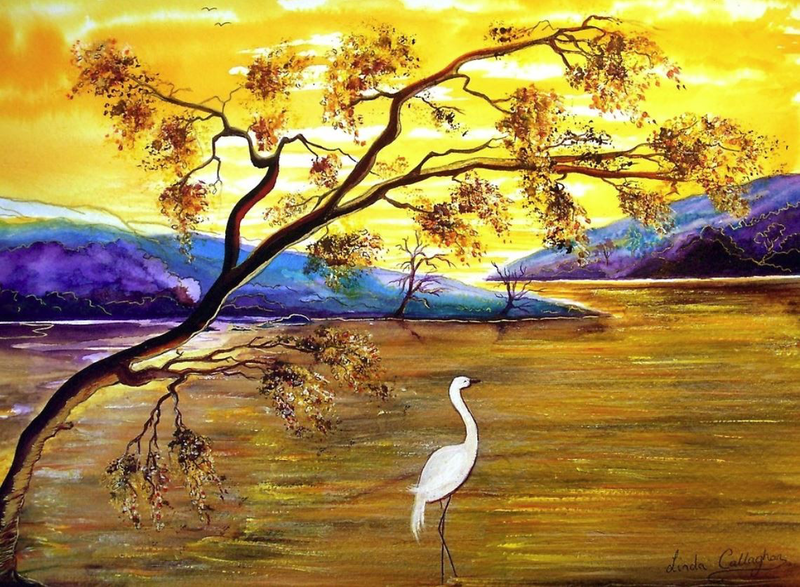 (CreativeWork) Silence is Golden by Linda Callaghan. mixed-media. Shop online at Bluethumb.