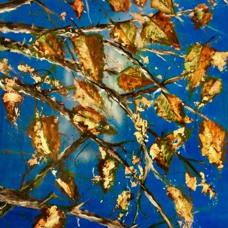 (CreativeWork) When Autumn Leaves  **** Series by Louise Croese. Mixed Media. Shop online at Bluethumb.