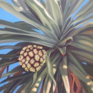 (CreativeWork) pandanas pleasures by Maria Heaton. acrylic-painting. Shop online at Bluethumb.
