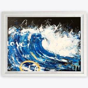 (CreativeWork) Love the Sea #4 - original (framed) by Tim Christinat. arcylic-painting. Shop online at Bluethumb.
