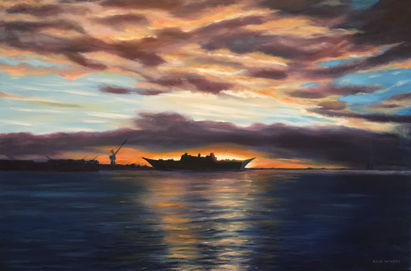 (CreativeWork) Williamstown Dockyards 2014 by Jack Woods. Oil Paint. Shop online at Bluethumb.