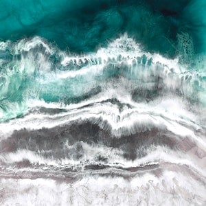 (CreativeWork) Ocean Flow by Martine Vanderspuy. resin. Shop online at Bluethumb.