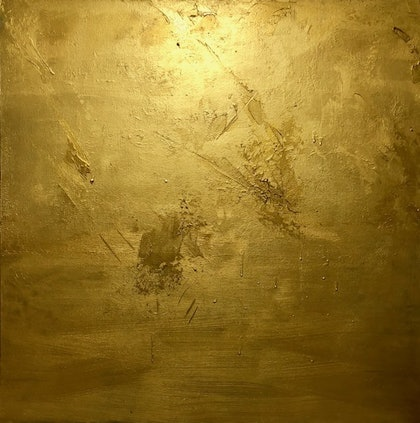 (CreativeWork) 24 KARAT GOLD  by Kat Las. arcylic-painting. Shop online at Bluethumb.