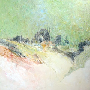 (CreativeWork) Midday Summer You Yangs  by John Graham. oil-painting. Shop online at Bluethumb.