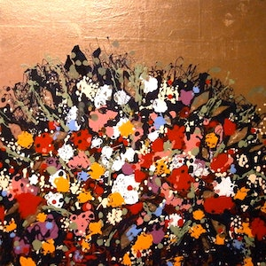 (CreativeWork) ''Flowers of Romance'' by Andrew J Pearson. oil-painting. Shop online at Bluethumb.