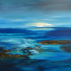 (CreativeWork) LIGHT BEFORE THE STORM by Clare Riddington Jones. arcylic-painting. Shop online at Bluethumb.