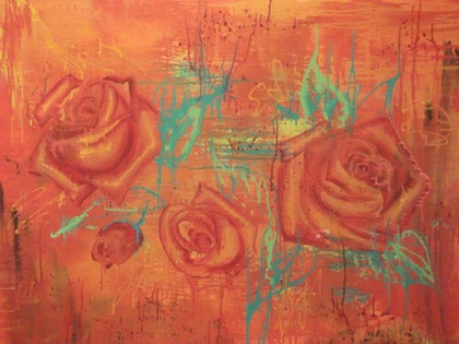 (CreativeWork) valentines day  by Maria Heaton. arcylic-painting. Shop online at Bluethumb.