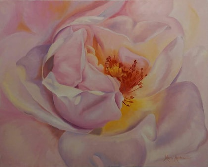 (CreativeWork) Afternoon Glow  by Maria Heaton. oil-painting. Shop online at Bluethumb.
