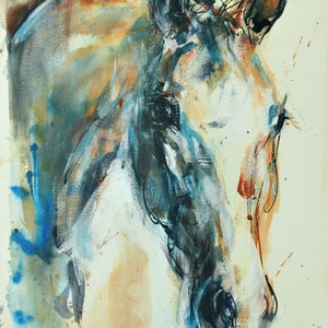 (CreativeWork) Filly by Nina Smart. watercolour. Shop online at Bluethumb.