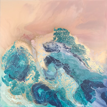 (CreativeWork) What Rises Up by Rachael Higby. arcylic-painting. Shop online at Bluethumb.