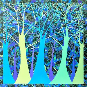 (CreativeWork) The Deep Forest by Lisa Frances Judd. arcylic-painting. Shop online at Bluethumb.
