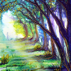 (CreativeWork) Nature's Path by Linda Callaghan. watercolour. Shop online at Bluethumb.
