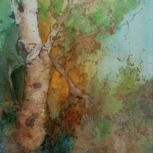 (CreativeWork) Forest Glen by Fiona Roxburgh. watercolour. Shop online at Bluethumb.