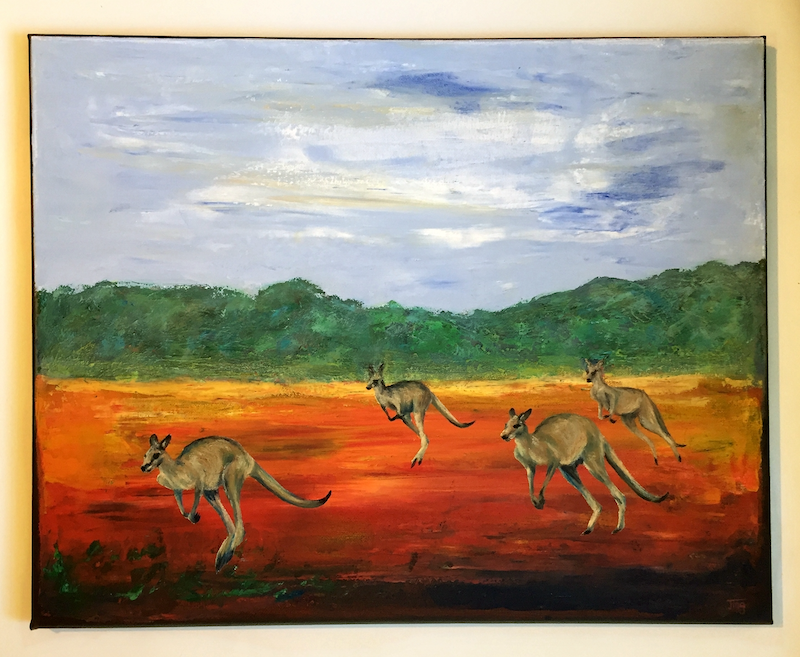 (CreativeWork) kangaroo by Jing Tian. Mixed Media. Shop online at Bluethumb.