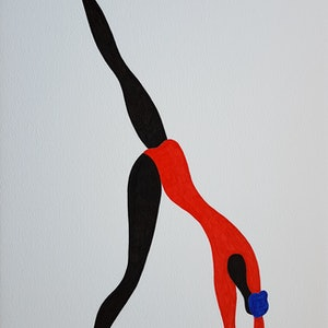 (CreativeWork) Dancer with halfway handstand by Yiwei Shi. drawing. Shop online at Bluethumb.
