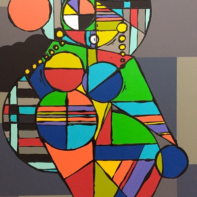 (CreativeWork) cubista by Jonathan Redmayne. acrylic-painting. Shop online at Bluethumb.