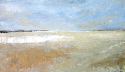 (CreativeWork) Australian Horizon  by John Graham. oil-painting. Shop online at Bluethumb.